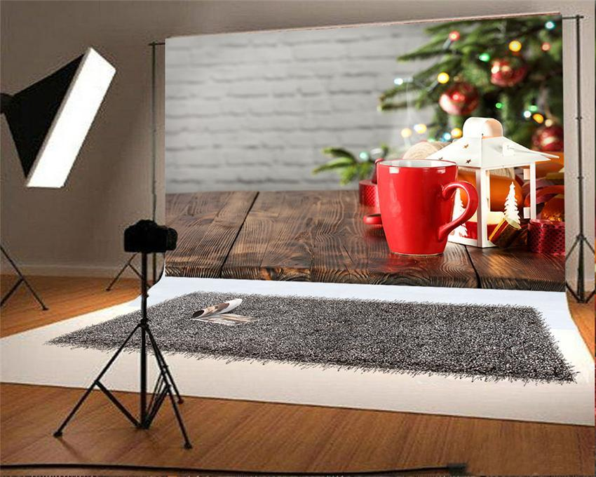 Christmas Wood Floor Backdrops for Picture