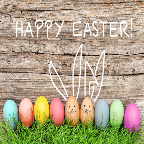Happy Easter Colorful Eggs Backdrops for Picture