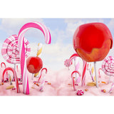 Pink Lollipop Candy Backdrop for Baby Show Photography