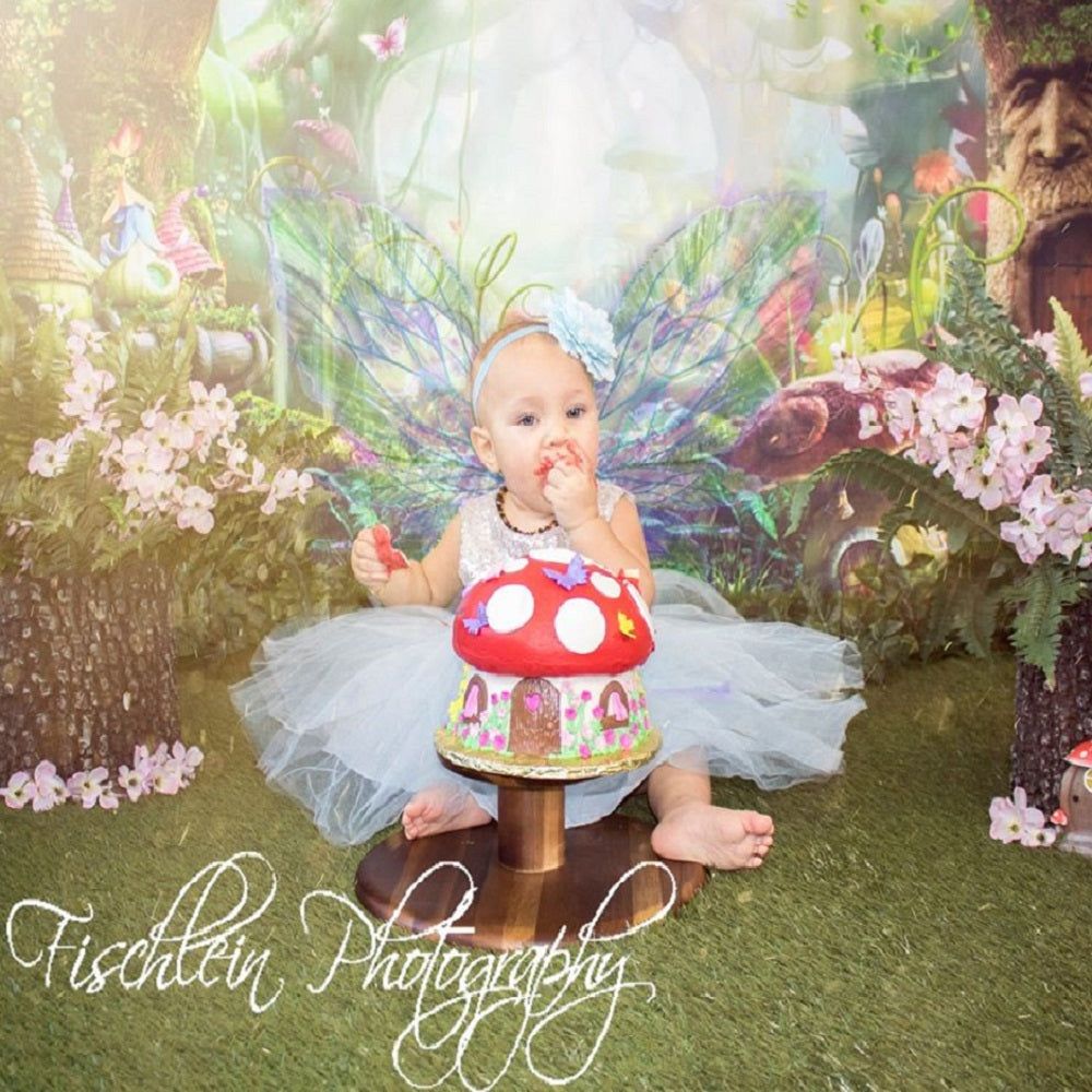 Fairy Tale Spirits and Girls In The Forest  Backdrop for Baby Show Photography
