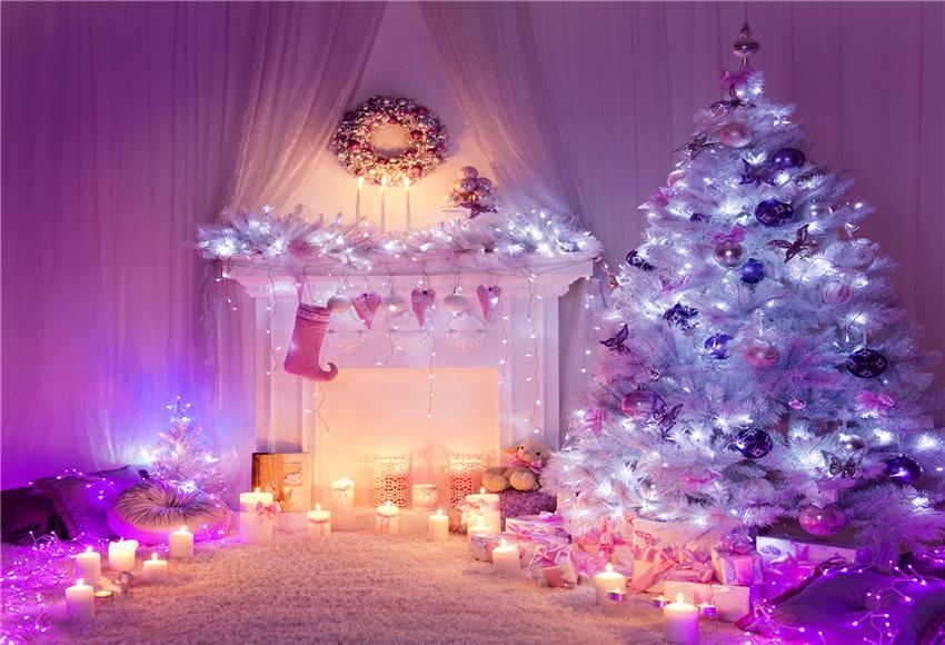 Lavender Christmas Backdrop for Photography Prop