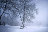 Snow Cover Tree Fog Winter Backdrops