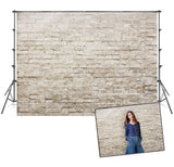 Vintage Grey Brick Wall Backdrops for Photo Booth Prop