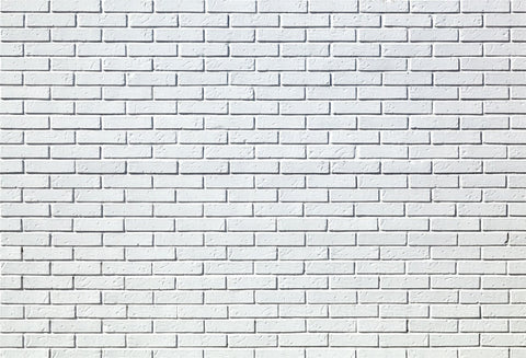 White Brick Wall Microfiber Photo Booth Prop Backdrop