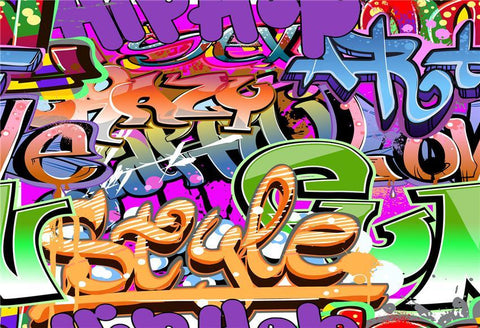 70s 80s Hip Hop Graffiti Style Alphabet Photography Backdrops