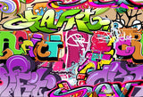 Graffiti Colorful Style Backdrop for 90s Prom Party
