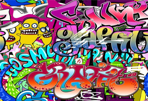 Graffiti Style Photography Backdrop for Photo Booth Pictures