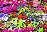 90th Graffiti Style Hip Hop Prom Fashion Backdrops