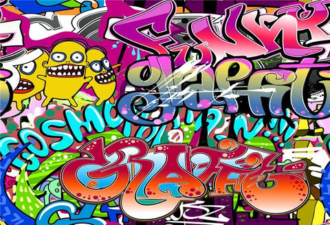 Fun Graffiti Theme Vintage Photo Studio Backdrops