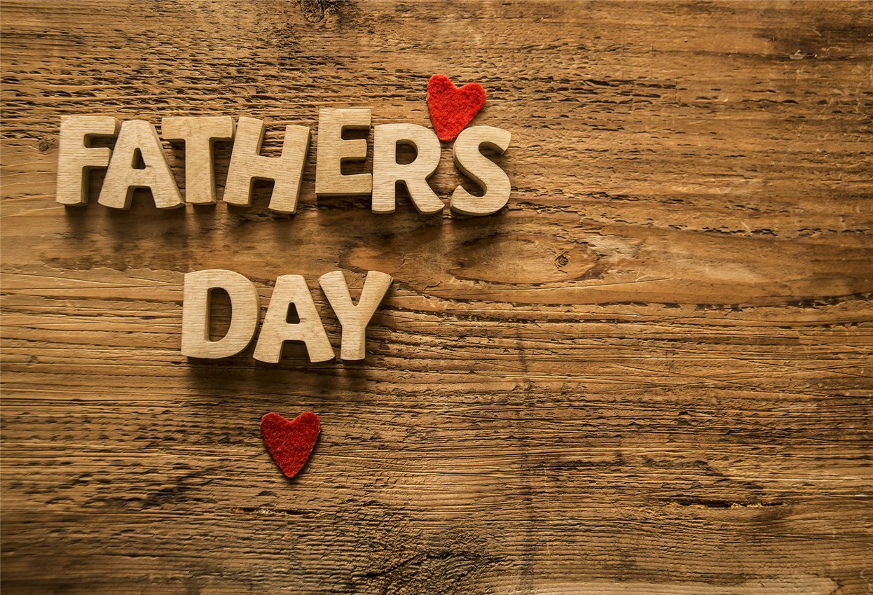 Happy Father's Day Wooden Backdrop for Dad