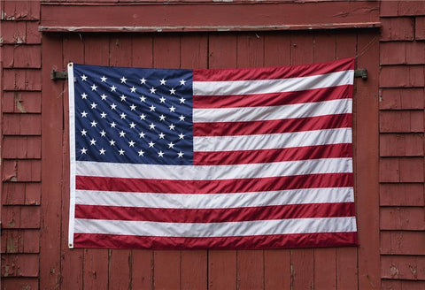 Purple Wood Wall America Flags Photography Backdrop