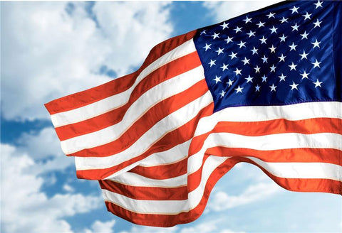 Blue Sky America Flag Photo Studio Backdrops