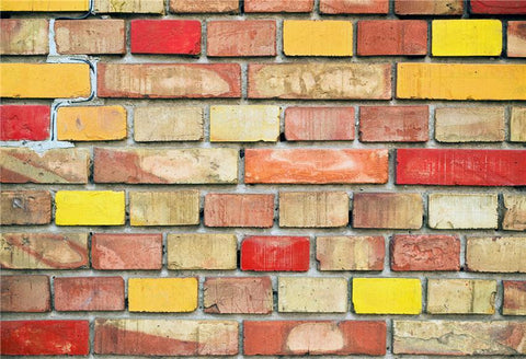 Colorful Brick Wall Backdrop for Party