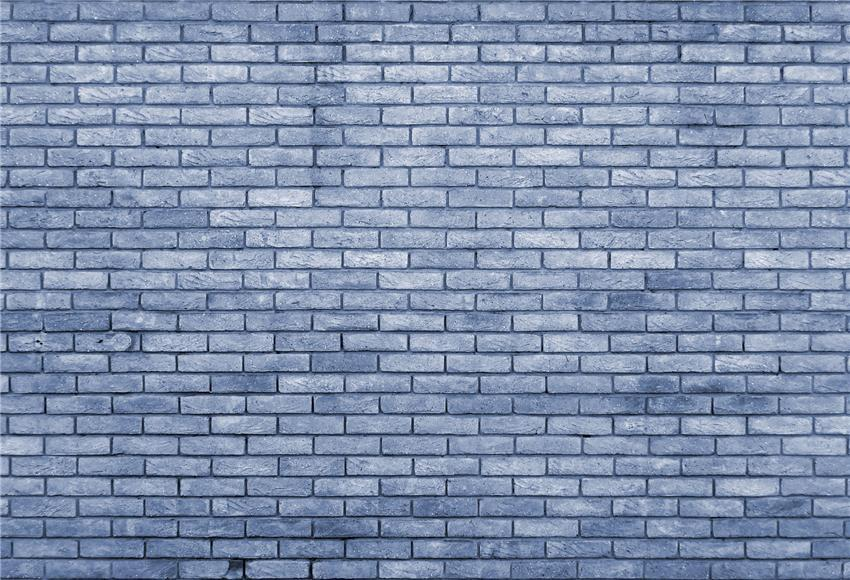 Slateblue Brick Wall Backdrops for Photo Studio