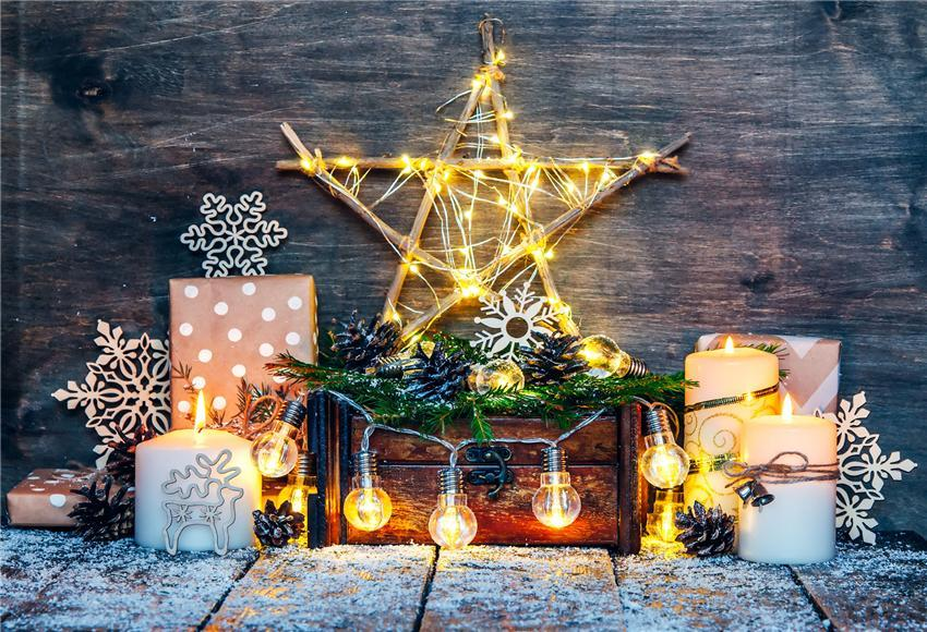 Bright Stars Christmas Photo Backdrops