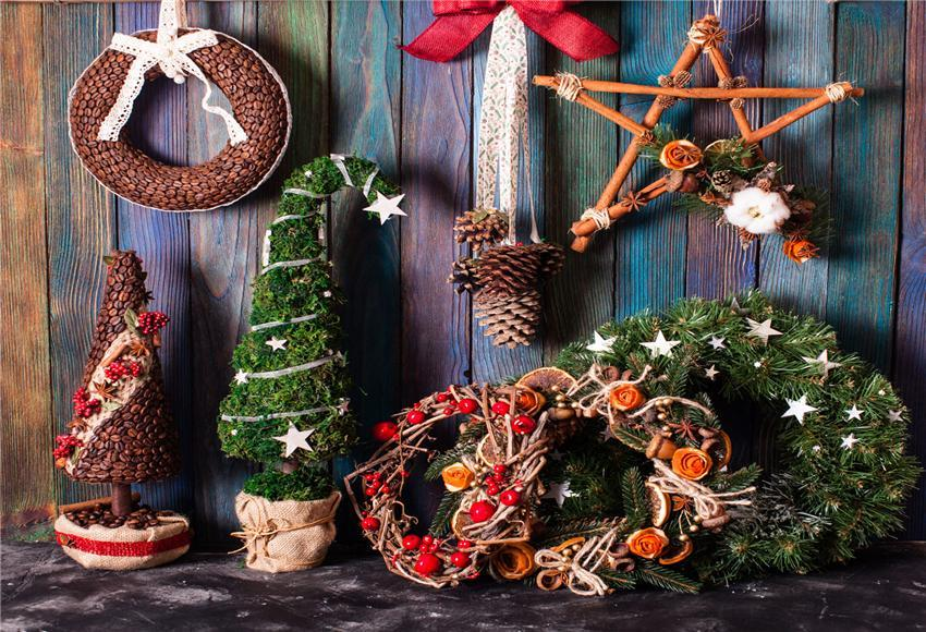 Wooden Christmas Photo Booth Prop Backdrops