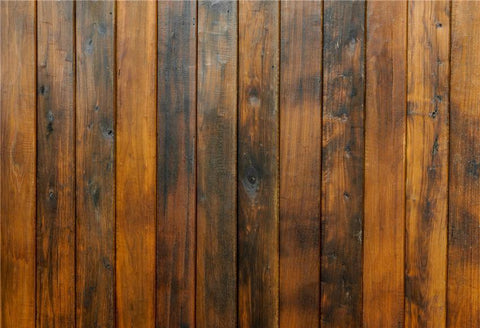 Retro Dark Brown Wooden Grain Wrinkle Free Backdrop