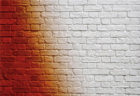 White and Red Brick Wall Photo Booth Prop Backdrops for Picture