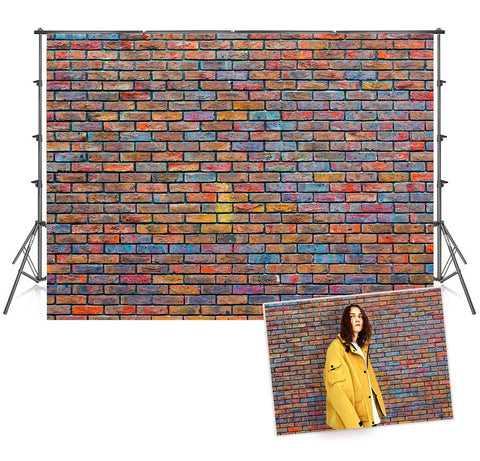 Graffiti Brick Wall Photography Portrait Backdrop for Picture