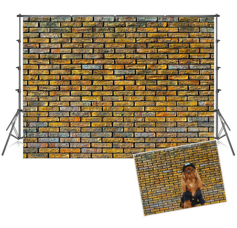 Print Graffiti Brick Wall Photo Booth Prop Backdrops