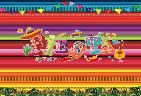 Summer Fiesta Mexican Dress-up Photo Booth Backdrops