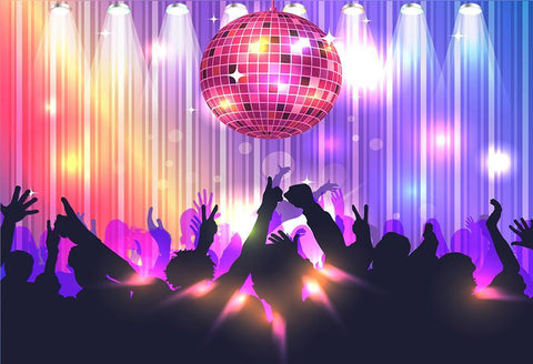 70's and 80's Disco Adults Event Banner Backdrops