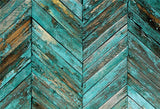 Aquamarine Blue Twill Wooden Backdrop Photography Wood