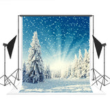 Winter Snowflake Forest Backdrop for Photography Prop