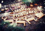 Merry Christmas Elk Wooden Backdrops