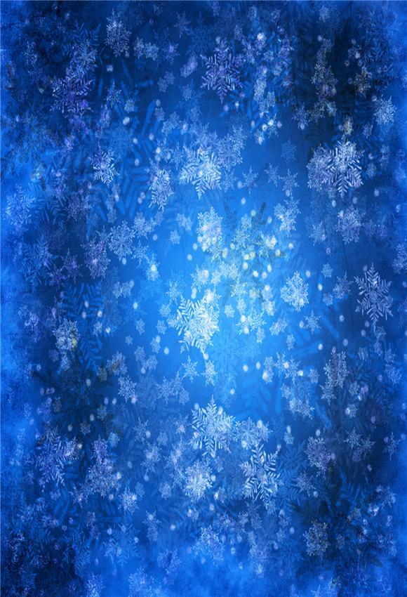 Royal Blue Snowflake Christmas Backdrops