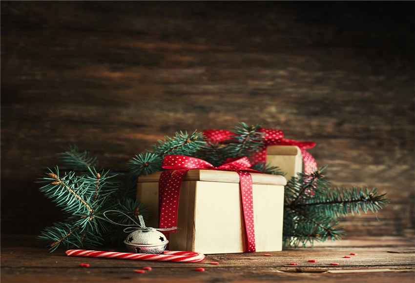 Dark Brown Wood Christmas Backdrops
