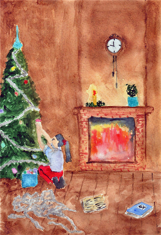 Cartoon Christmas Photography Backdrop for Picture
