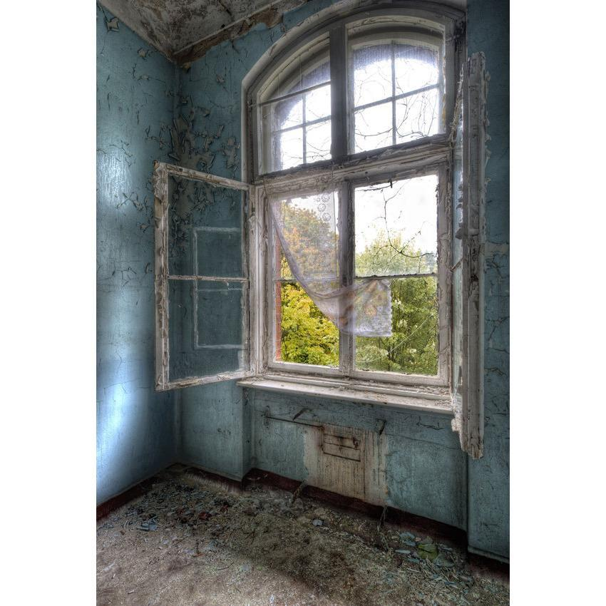 Old and Dirty House Backdrop Window Photography Background Architecture