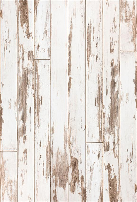 White and Brown Vintage Wooden Backdrops for Birthday,Baby Show