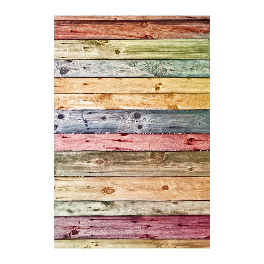 Printed Colorful Wood Floor Nature Texture  Backdrop for Photography