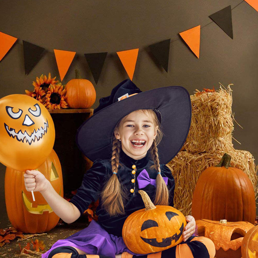 Brown Halloween Photography Backdrops Pumpkin Photo for Shooting