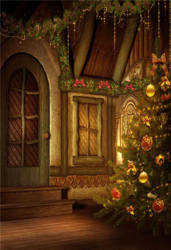 Christmas Butterfly Wood Floor Backdrop for Photography