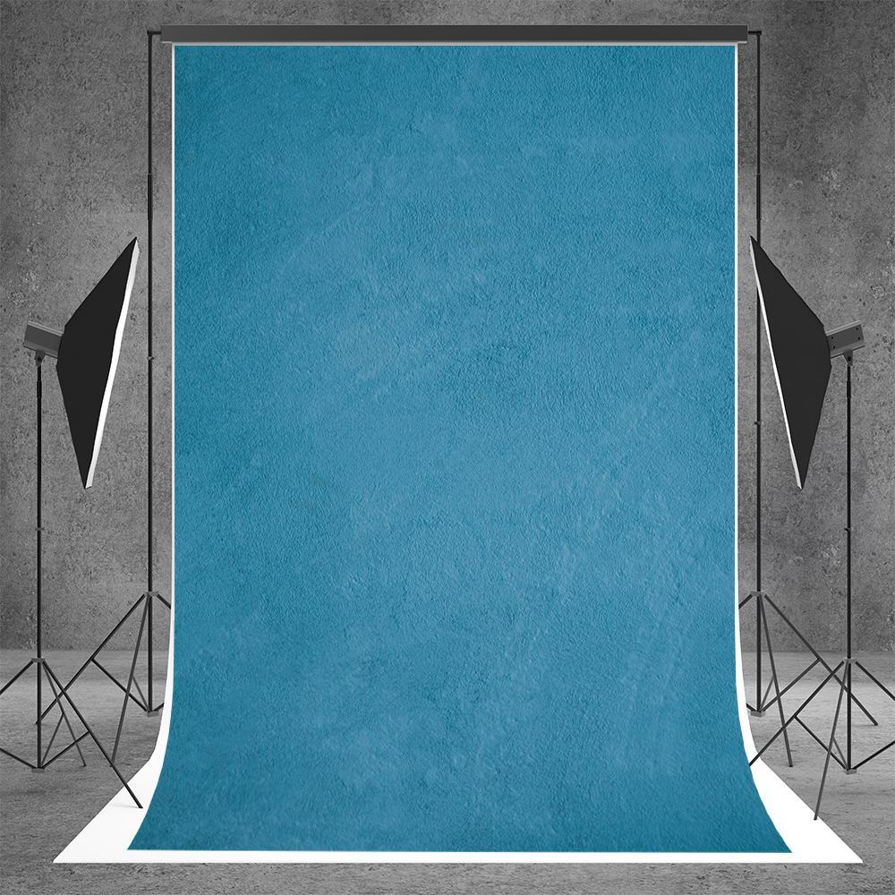 Blue Texture Microfiber Abstract Backdrop for Solid Portrait Photo