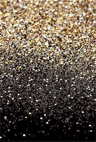 Gold Black Prom Party Photography Backdrop