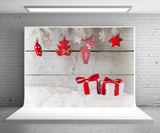 Christmas Gift Photography Backdrop Snow Background