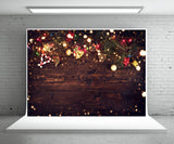Christmas Wood Wall Photo Backdrop