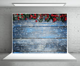 Snowflake Wood Wall Photography Backdrop Christmas Background