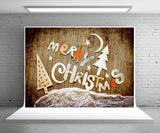 Christmas Wood Wall Photography Backdrop Photo Booth Props