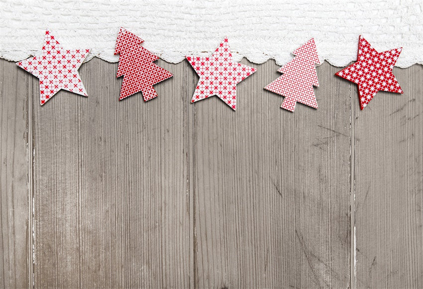 Christmas Wood Wall Photography Backdrop