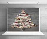 Wood Christmas Tree Photography Backdrop Wood Wall Photo Background