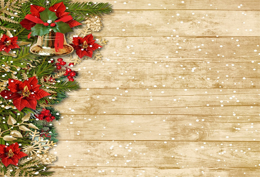 Christmas wooden wall warm color photography background snowflake background