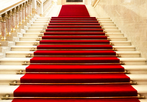 Red Carpet Stairs Wedding Photography Backdrop