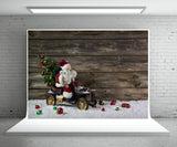 Christmas vintage wooden wall photography background Santa Claus background