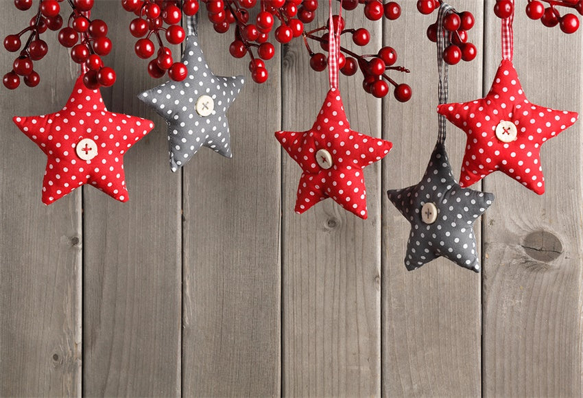 Star Christmas Wood Wall Backdrop for Photography