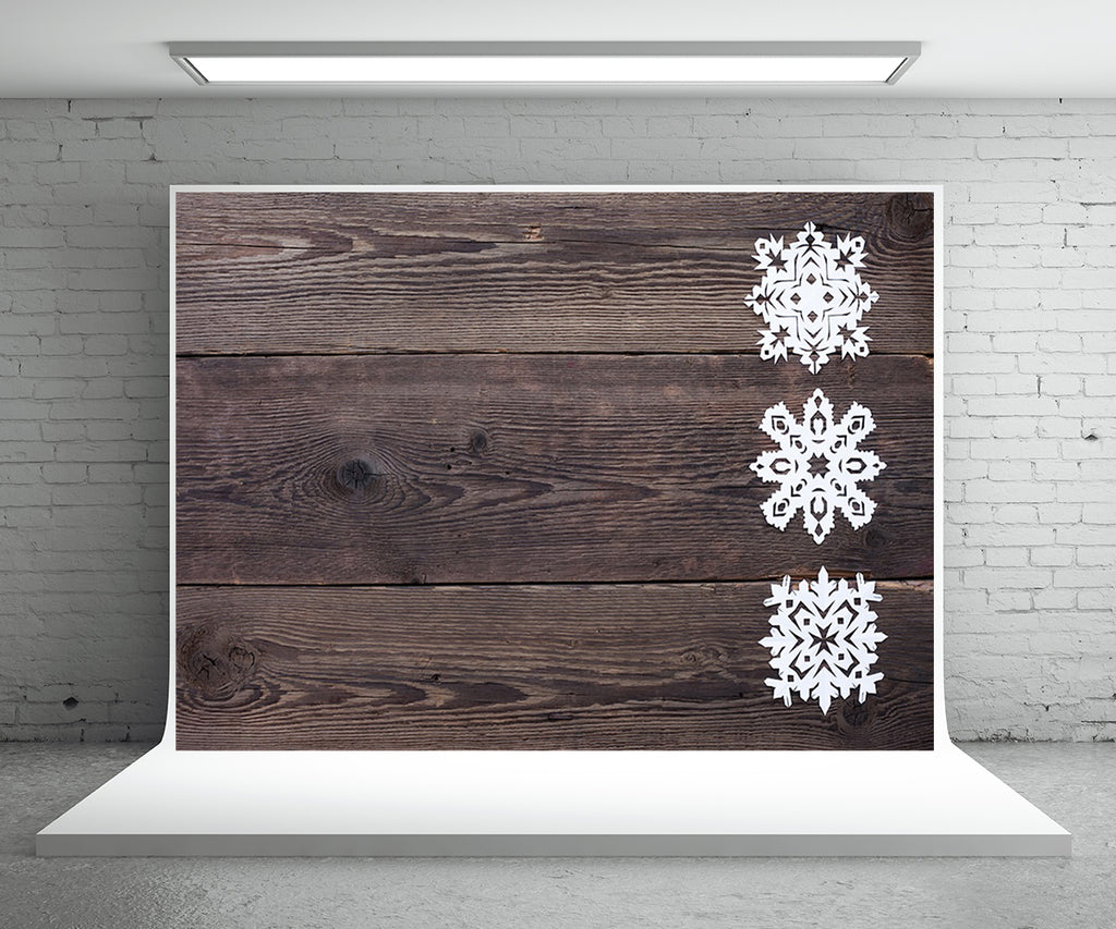 Dark Grey Wood Backdrop for Photography Christmas Snow Photo Background